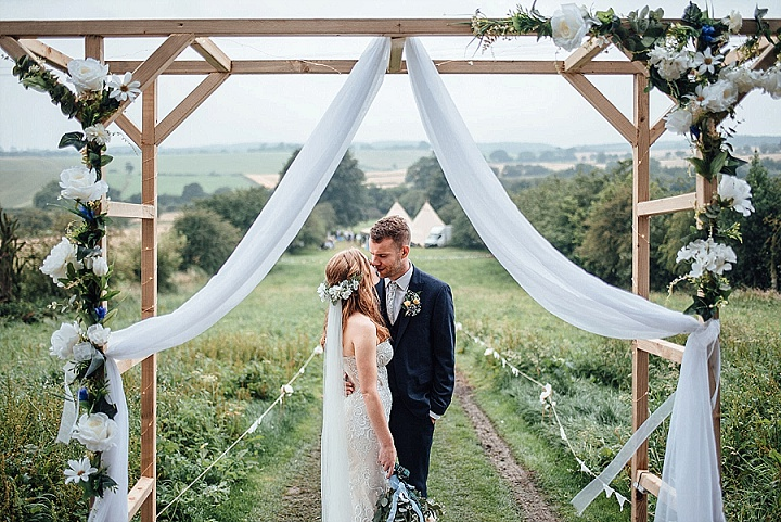 Ella and Jamie's Locally Sourced, Hand Made Tipi Wedding at Home by Miss Whittington's Photography
