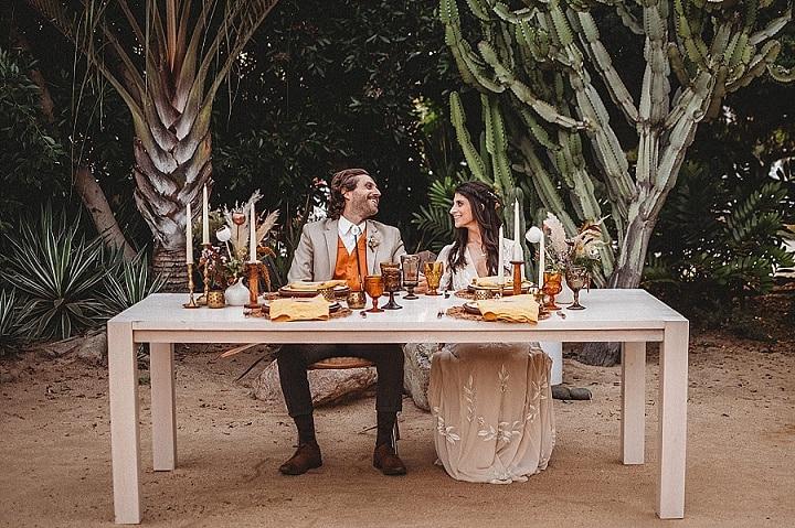 70's Surfer Vibes Meets Bohemian Beach Wedding Inspiration