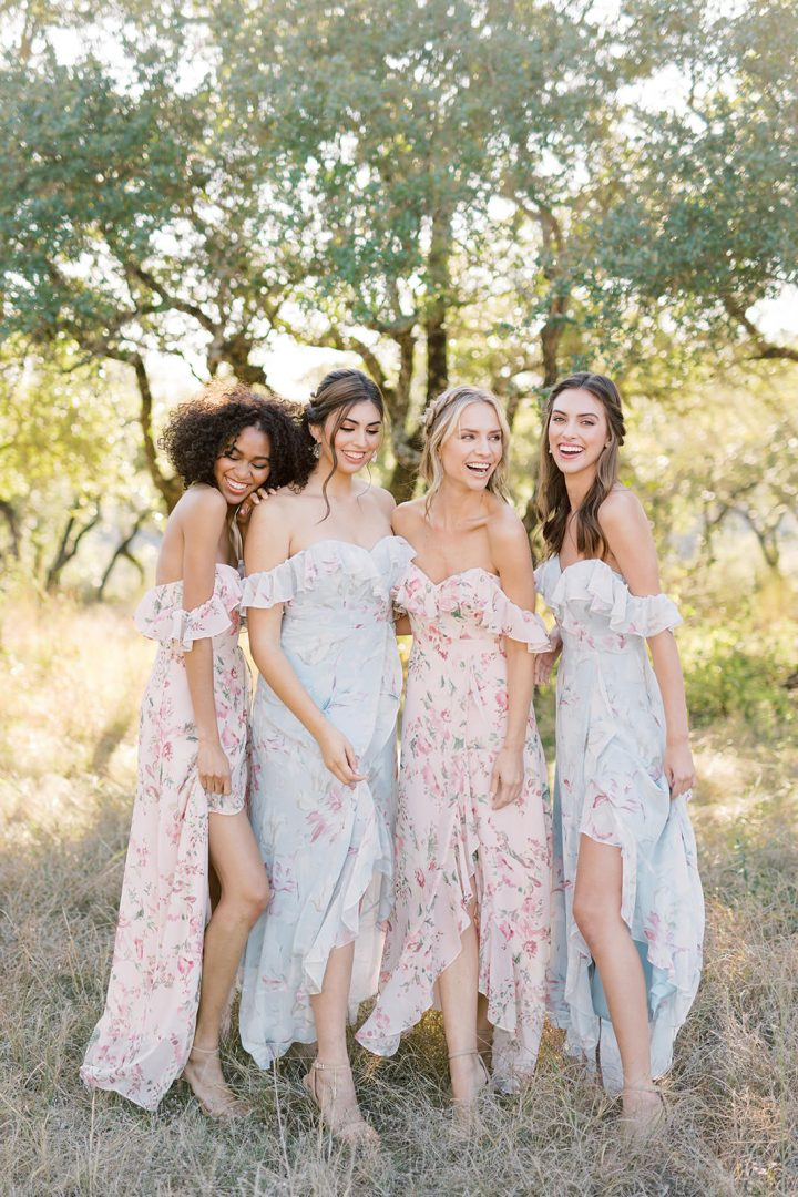 Bridal Style: Revelry's New, Dreamy Floral Print Bridesmaid Collection is Designed to Mix and Match
