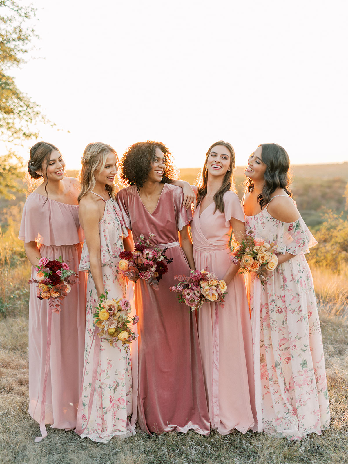 Bridal Style: Revelry?s New, Dreamy Floral Print Bridesmaid Collection is Designed to Mix and Match