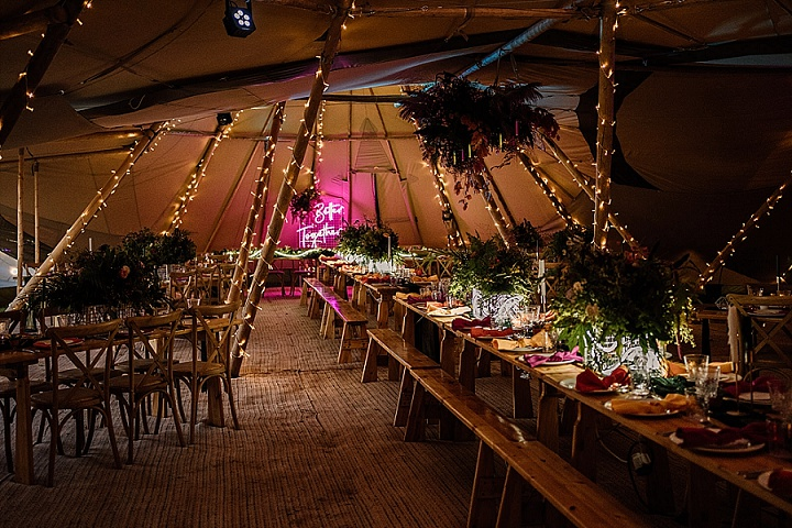 'Better Together' Illuminating Love Contemporary Tipi Wedding Inspiration