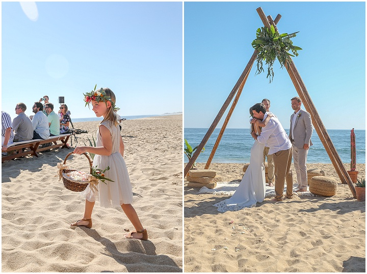 Kelsey and Tristan's Boho Beach Wedding in Mexico by DeNeffe Studios