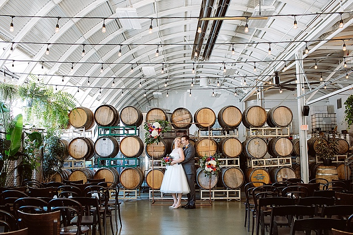 Caroline and Scott's Bright and Colourful Urban Winery Wedding by Jessica Hill Photography