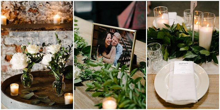 Kate and Andrew's Green White and Gold Elegant and Minimal New York Wedding