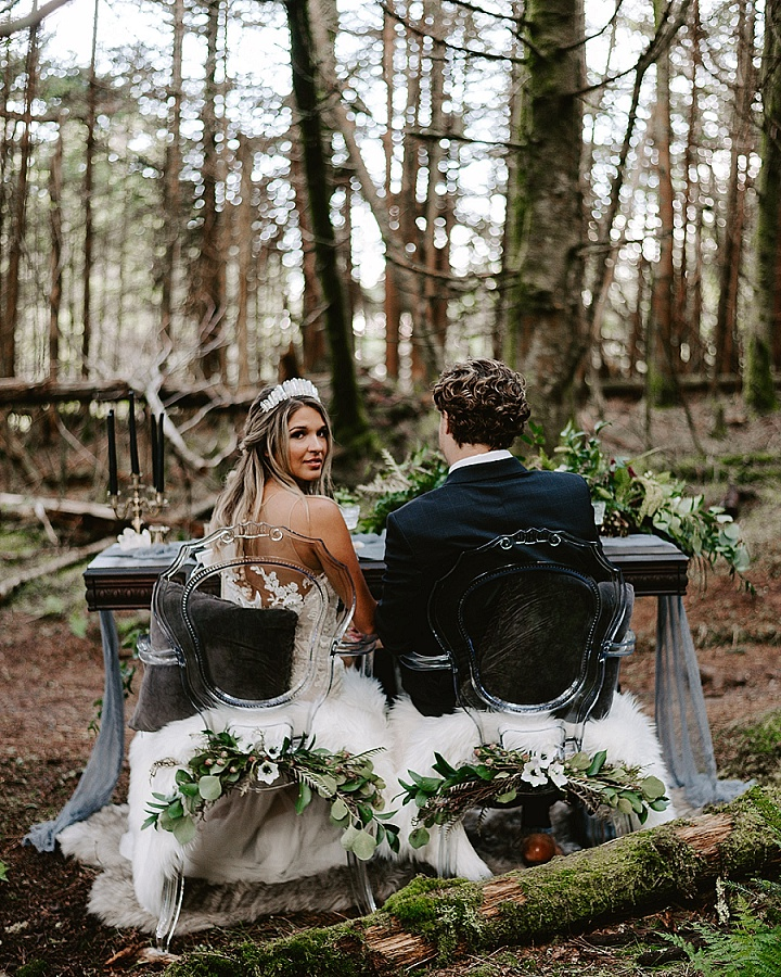 'Mountain Elopement' Gothic Chic Wedding Inspiration