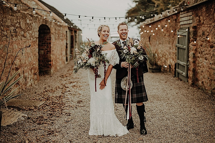 Aimee and Mark's 'Romantic, Organic and Cosy' Candles and Foliage Filled Scottish Wedding by Lena and Patrick