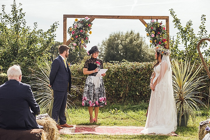 Jenny and Antoni's DIY English Garden Wedding at Home by Florence Fox