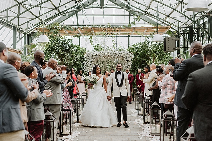 Cortez and Alexa's 'Timeless' Flower Filled Elegant Conservatory Wedding by Evan Davies Photo
