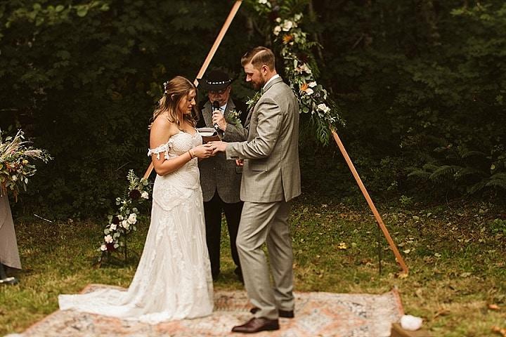 Ashley and Gabe's Super Stylish Boho Inspired Backyard Wedding by Weiss Photo and Film