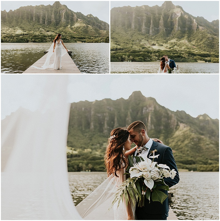 Mikey and Jen's Super Stylish Breathtaking Hawaii Wedding by Lauren Dixon Photography