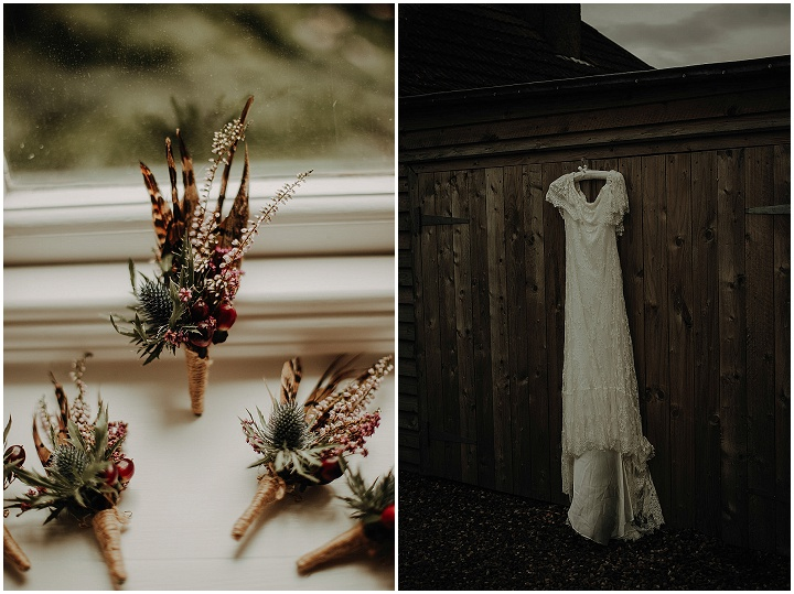 Aimee and Mark's 'Romantic, Organic and Cosy'Candles and Foliage Filled Scottish Wedding by Lena and Patrick