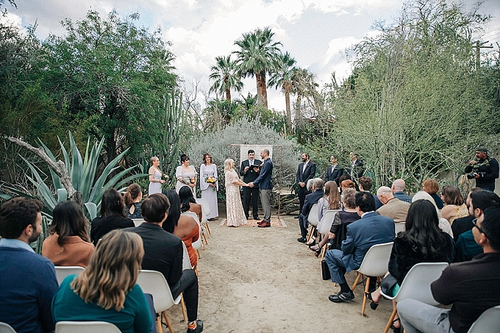 Kerry and Brian's Pretty Pastel Desert Inspired Intimate Palm Springs Wedding by 222 Photography