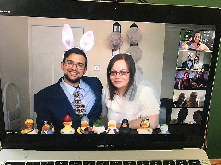 Virtual Weddings During The Pandemic - Hannah and Matt's Story by Lauren Stone
