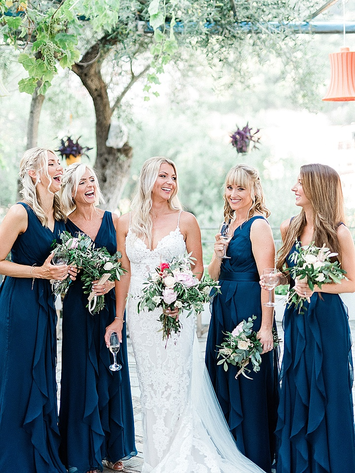 Jessica and Ian's 'Golden, Rustic and Deep Blue' Greek Wedding With a View by Lefkas Weddings and Lefteris Kalampokas