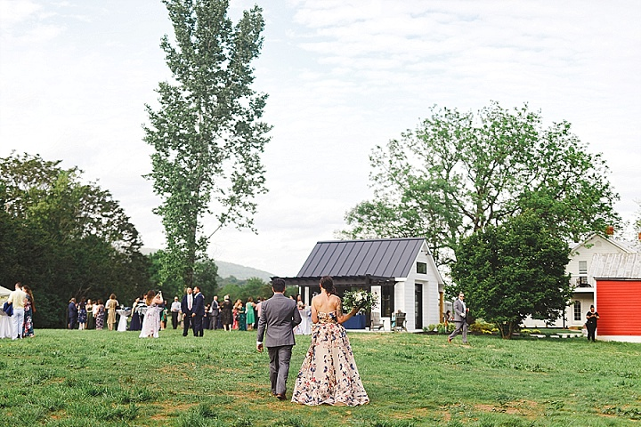 Bridget and Keith's Laid Back Outdoor Wedding With the Most Amazing Dress by Valerie Demo Photography