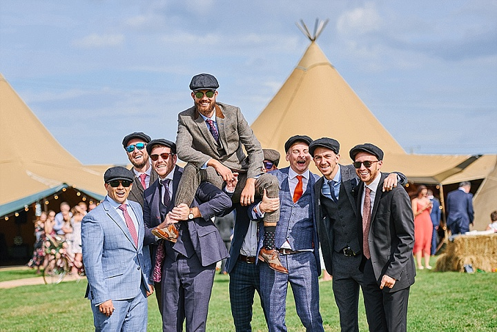 Ally and Edd's Homespun Summer Meadow Tipi Wedding by Sally Rose