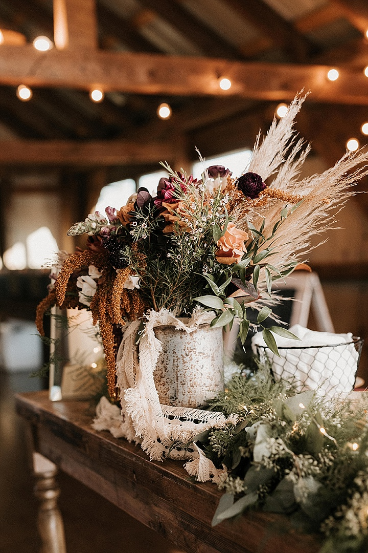 Emily and Derek's 'Rustic Romance' Fall Farm Wedding by Tori Kelner Photography