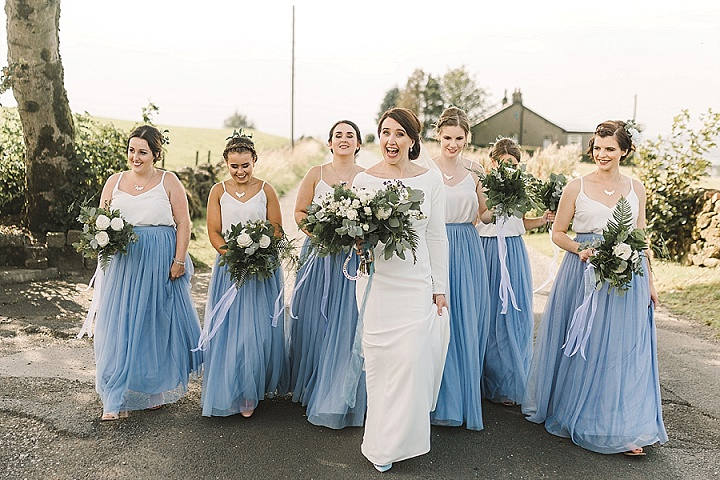 Emma and Rowan's Handmade Dusky Blue Lancashire Wedding by Anna Wood Photography