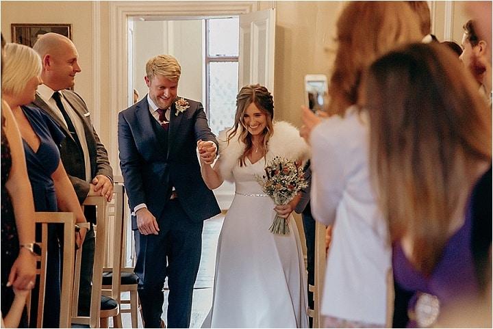 Jason and Lisa's Autumnal Berkshire Barn Wedding by Jodie DC Mitchell