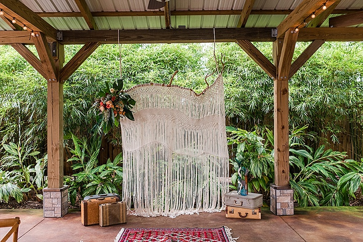 'Boho in Bloom' Bright Teal and Rusty Orange Macramé Filled Bohemian Wedding Inspiration