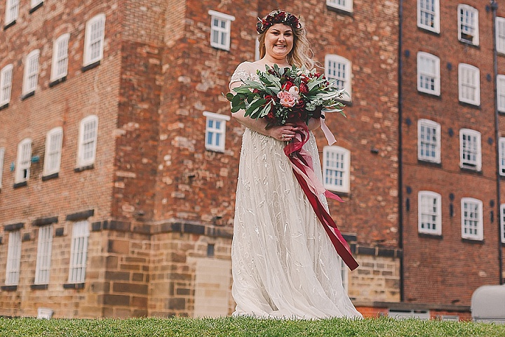 Lizzie and Ollie's Home Spun Burgundy and Pink Derbyshire Wedding by Eternal Images Photography Ltd