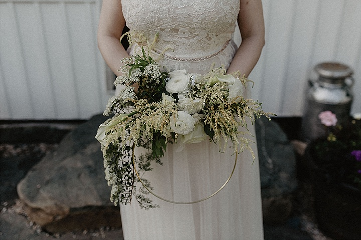 Sara and Sean's Springtime New York Farm Wedding With Pizza and Flower Hoops by Nicole Nero Studio