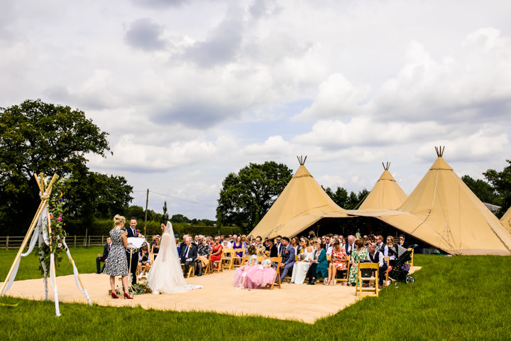 Katie and Andy's Outdoor DIY Rainbow Tipi Wedding in Cheshire by Cassandra Lane