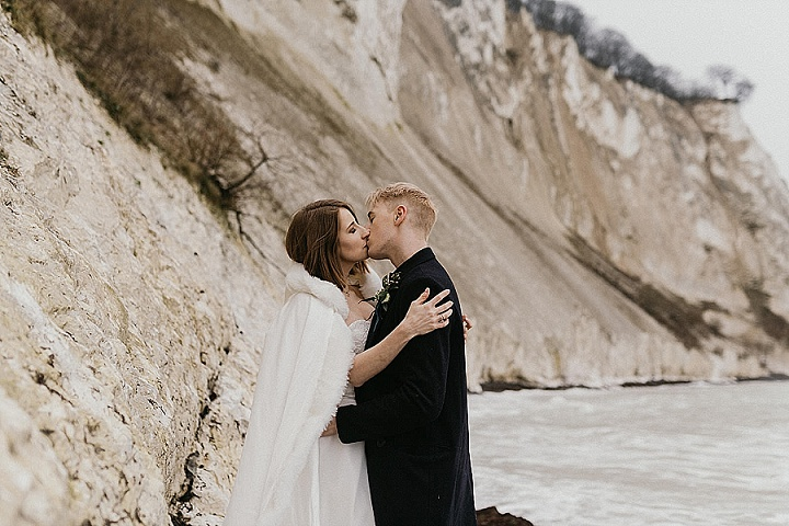 Anya and Ryan's small intimate wedding on Møn's Klint.