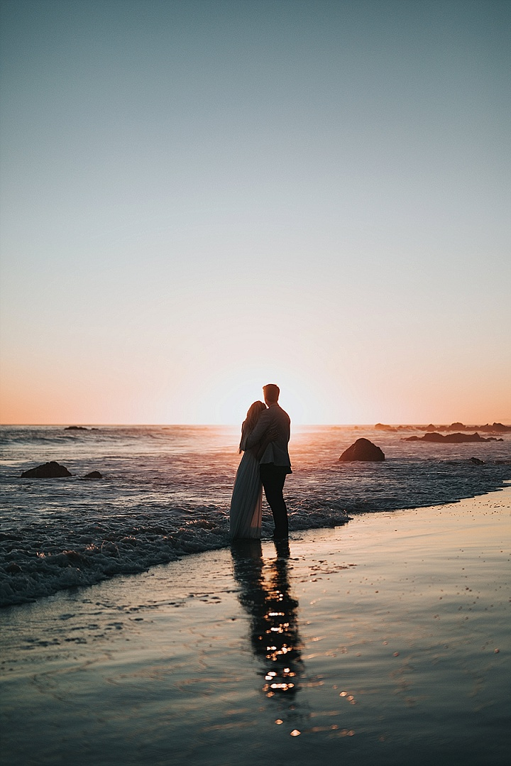 Bornholm's beaches have breathtaking sunsets that will make any adventure elopement photographer go crazy!