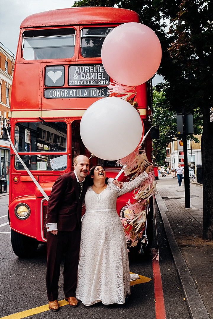 Aurélie and Daniel's Dried Flowers and Book Themed Wedding in North East London by Marianne Chua