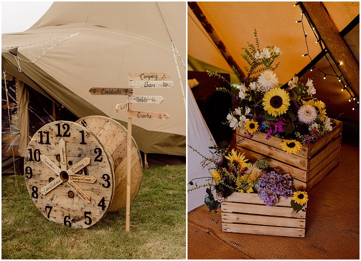 Elouise and Mitchell's DIY Cornish Tipi Wedding by Joshua Gooding Photograpy