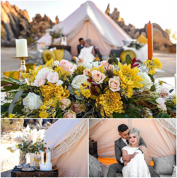 'Boho in the California Desert' Dream Catchers, Geodes and Macrame Wedding Inspiration