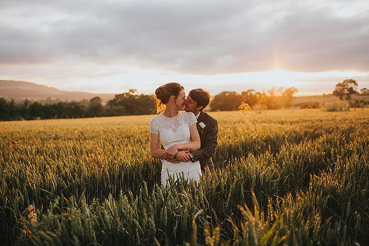 James and Charlie's Home Grown, Home Spun DIY Shropshire Farm Wedding by Lisa Webb