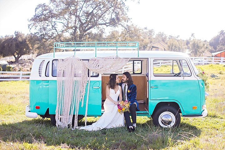 'Bright Boho' Beatles Inspired Wedding Inspiration with the Cutest Alpaca