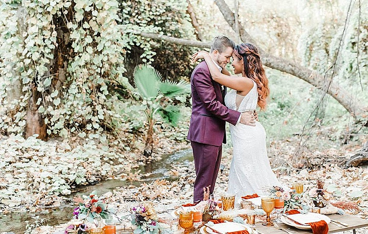 'California Forest Wedding' Simple and Organic 1970's Bohemian Wedding Inspiration