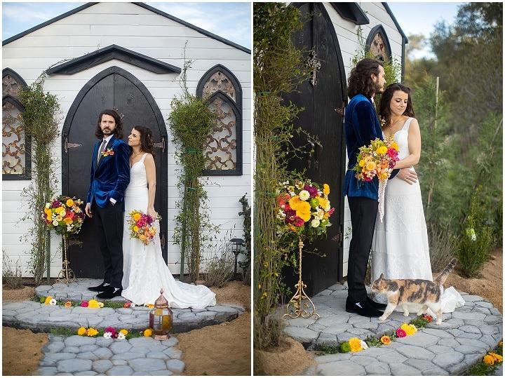 'Bright Boho' Beatles Inspired Wedding Inspiration with the Cutest Alpaca