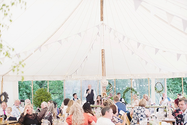 Hollie and Regan's Handmade Pretty Pastel Marquee Wedding in North Yorkshire by Sasha Lee Photography