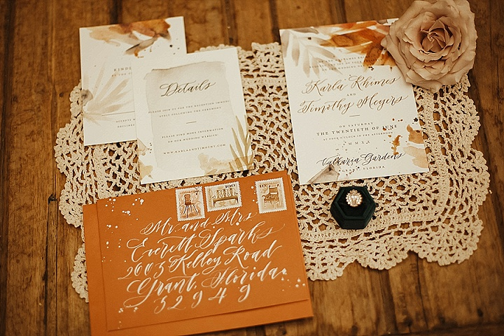 'Boho Winter in Bloom' Florida Garden Wedding Inspiration with Whimsical Fabrics and Colours