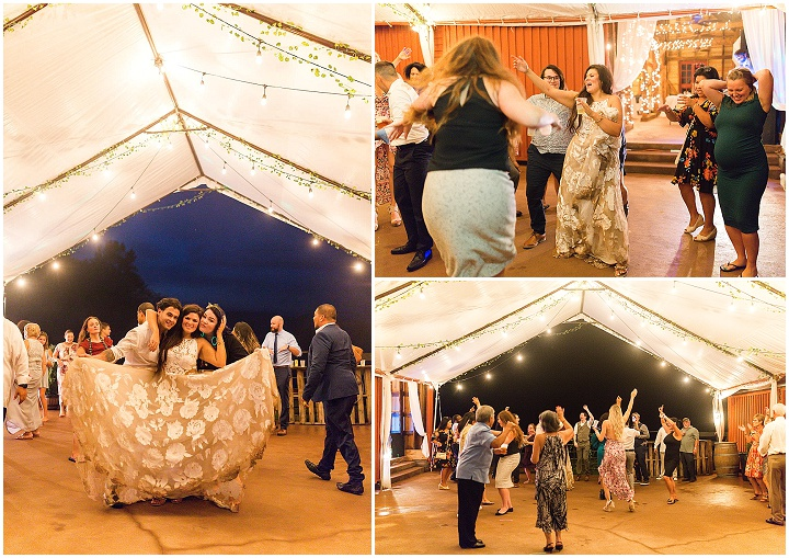 Dana and Pauline's Pizza and Dancing Fun Filled Barn Wedding in Virginia by Sydney Kane Photography