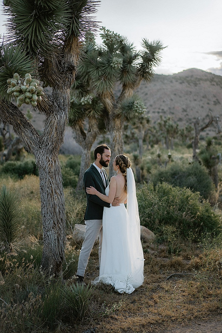 Megan and Jeff's Minimalist Wedding in The California Desert by Sebastien Bicard Photography