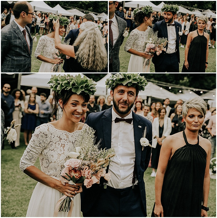 Nadezhda and Viktor's Rainy Outdoor Party Wedding All Planned in 5 Months