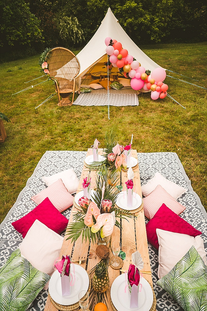 'Tropical Paradise At Home' Bright And Colourful Party and Wedding Inspiration for Smaller Gatherings