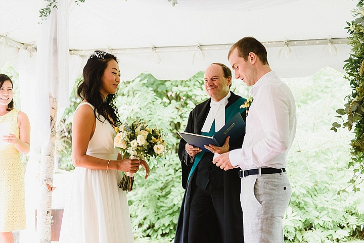 Satoko and Ian's Simple Backyard Wedding with 1000 Paper Cranes by Natalia Zuk Photography