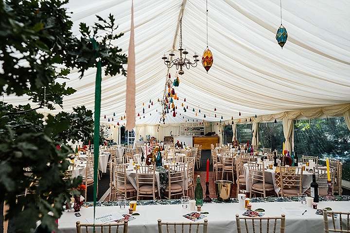 Katie and Dom's Colourful and Bright DIY Back Garden Wedding by Aaron Collett
