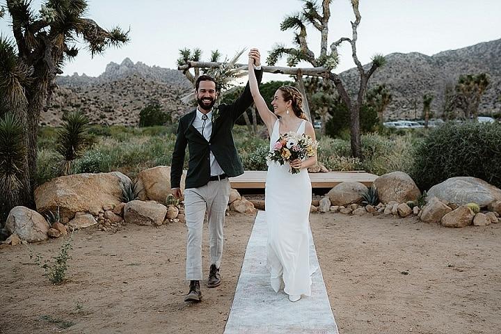 Megan and Jeff's Minimalist Wedding in The California Desert by Sebastien Bicard Photography