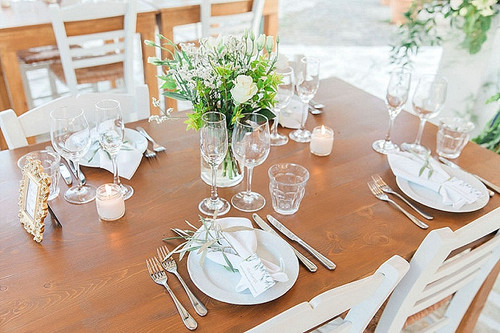 Hannah and Jack's White, Green and Gold Beautiful Greek Wedding by Lefkas Weddings