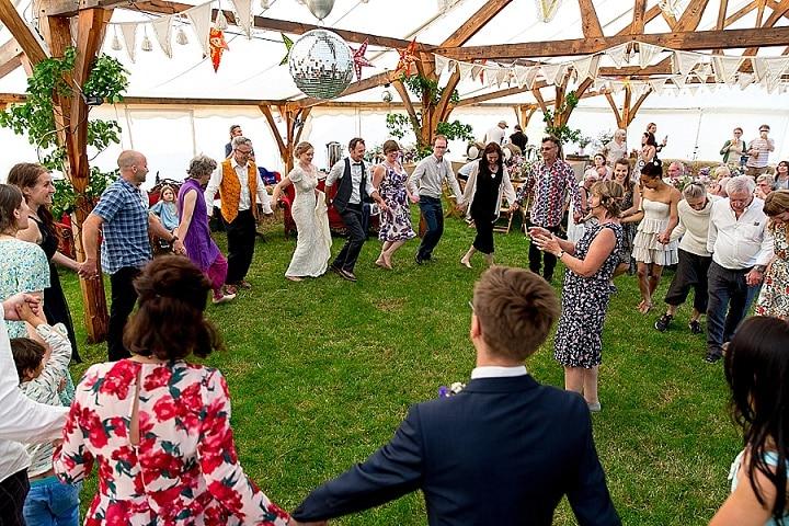 Tim and Abi's Laid Back Handfasting Glastonbury Wedding by Ian Jeffery