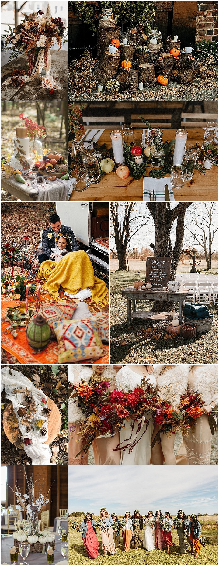 Boho Pins: The Best of Boho – My Top 10 Autumn Weddings Ideas
