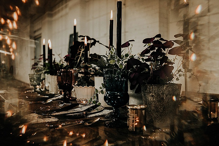 'Modern Halloween' Edgy, Industrial Warehouse Elopement Inspiration