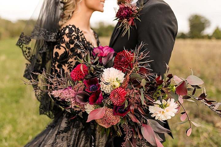 'An Enchanting Wedding' Pink and Dreamy Meets Black and Moody Halloween Wedding Inspiration